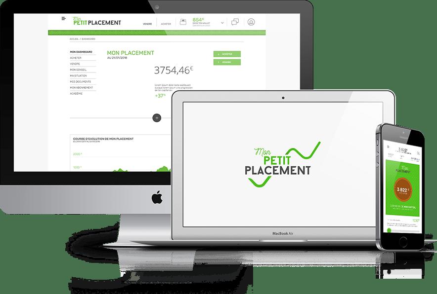 Mon Petit Placement, création d'un site pour une start-up