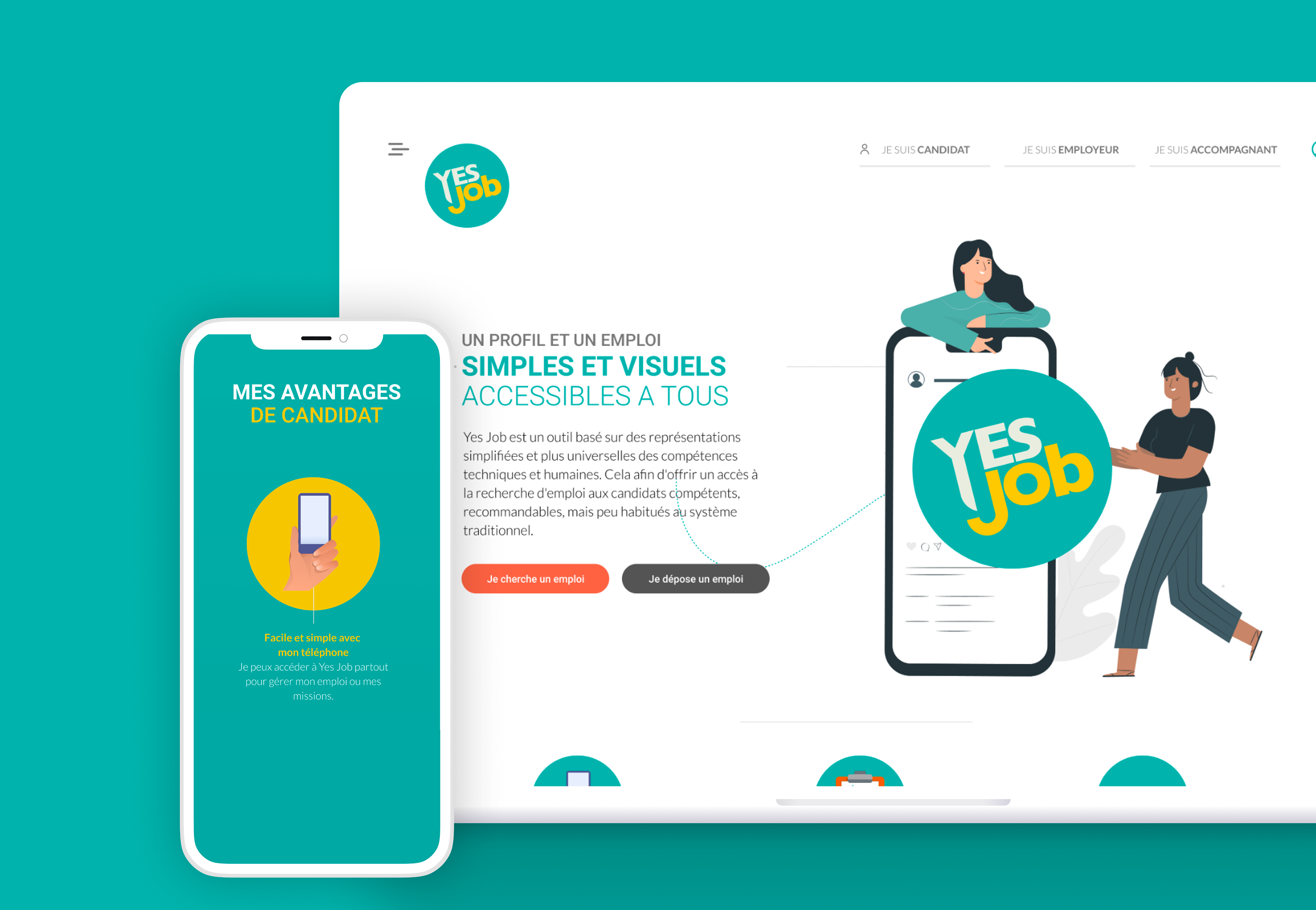 Site vitrine de Yes Job