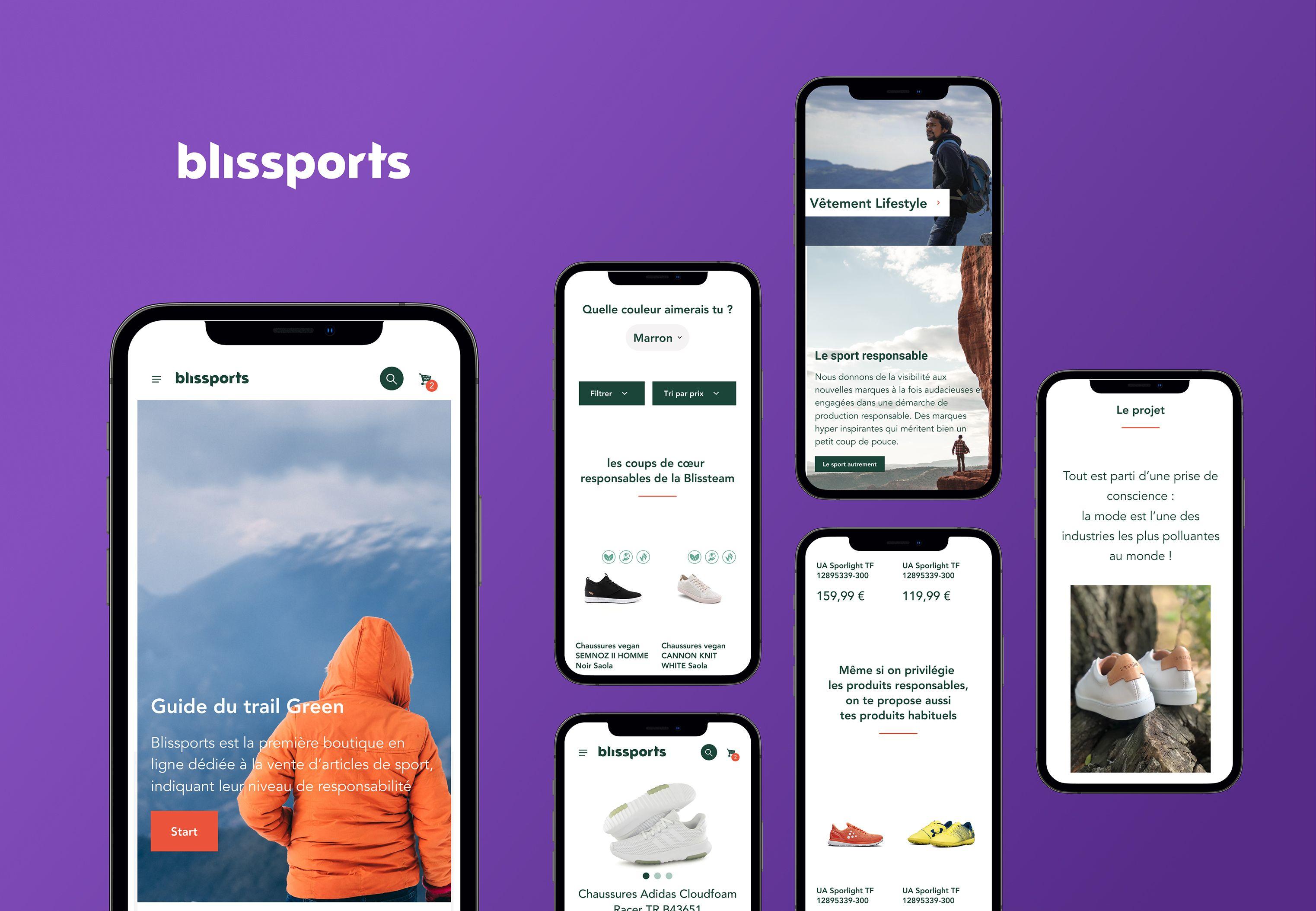 Écrans mobiles de Blissports